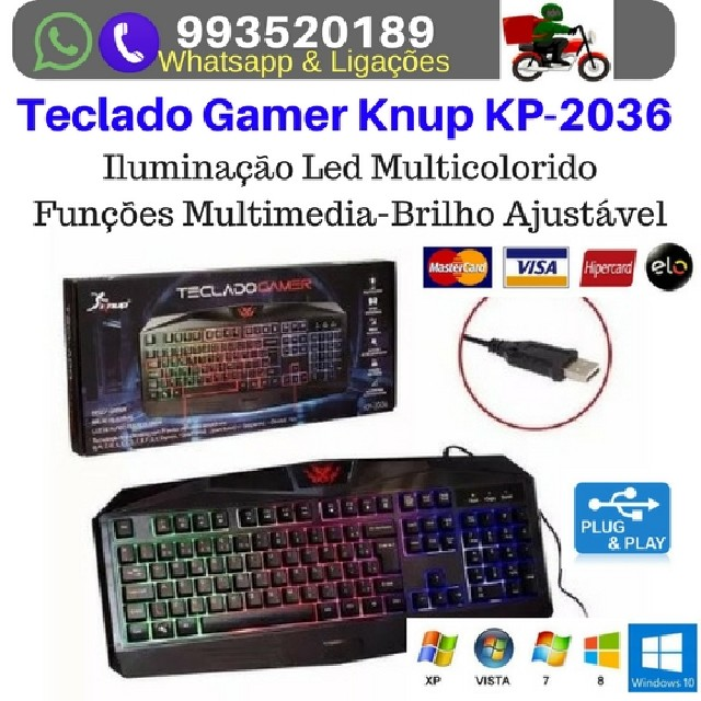 Foto 2 - Kit gamer knup mouse 7-teclado e mouse pad